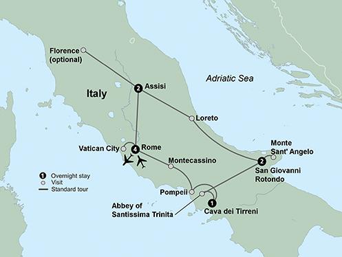 Shrines of Italy (10 Days, Standard)