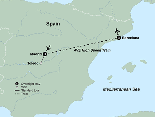 Madrid and Barcelona (7 Days, Standard)