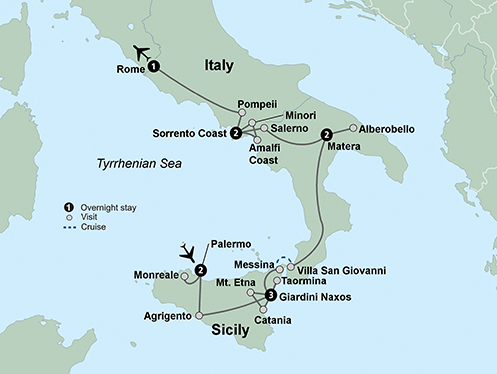Southern Italy and Sicily (11 Days, Standard)