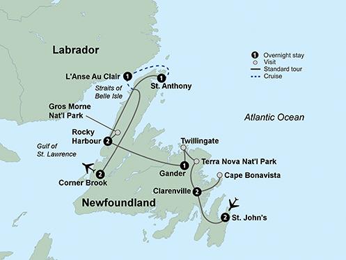 Wonders of Newfoundland (12 Days, Standard)