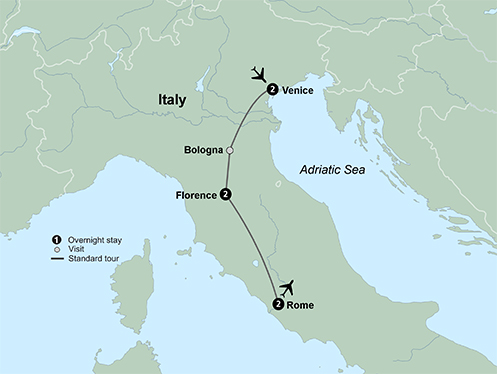 Venice, Florence and Rome (7 Days, Standard)