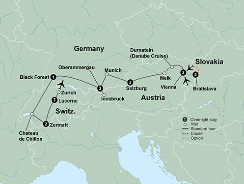 Exploring the Alpine Countries (12 Days, Standard)