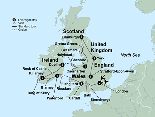 Exploring Britain and Ireland (14 Days, Standard)