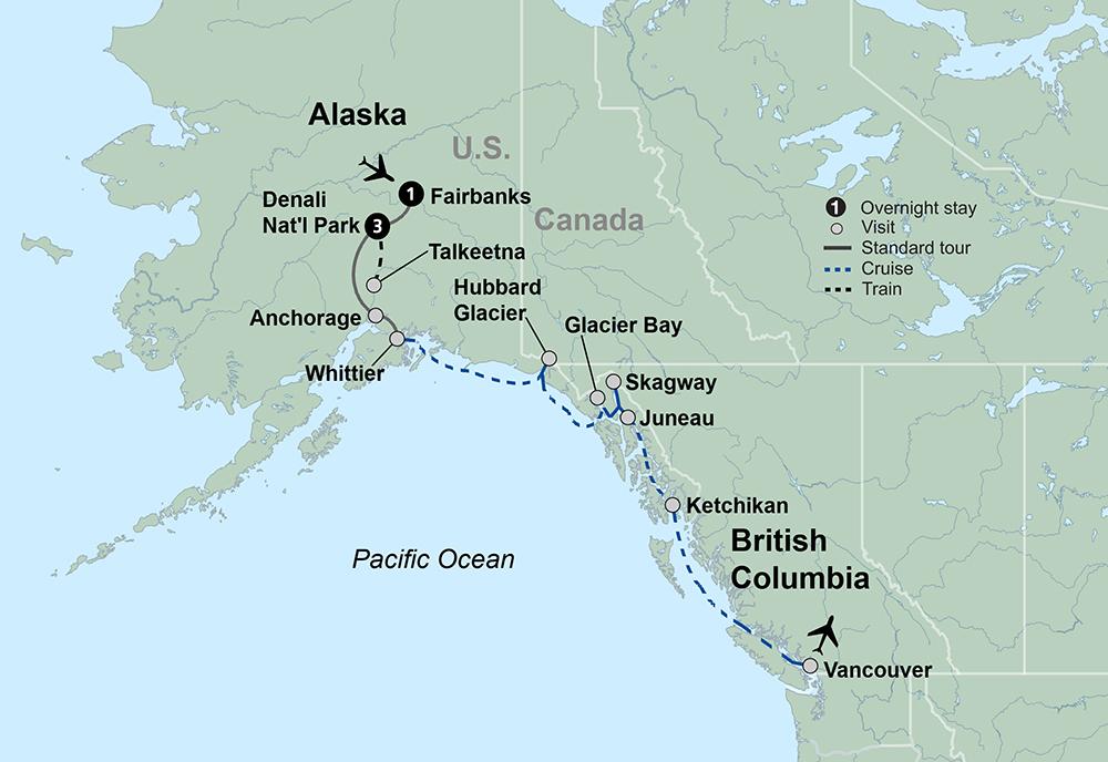 Alaska Discovery Land and Cruise