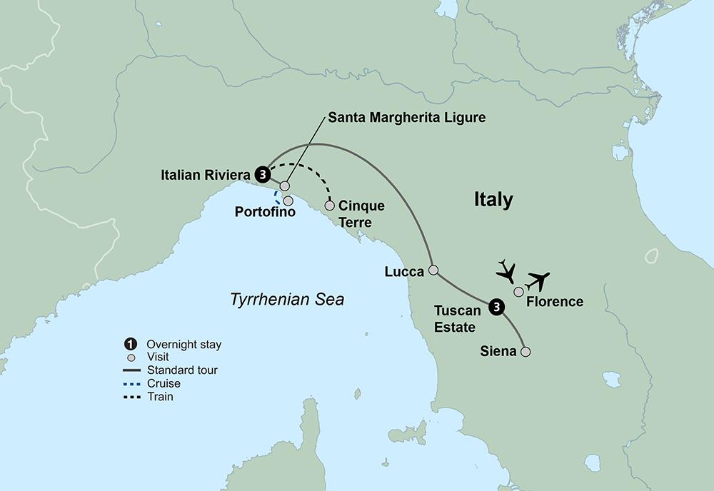 Tuscany and the Italian Riviera (7 Days, Reverse)