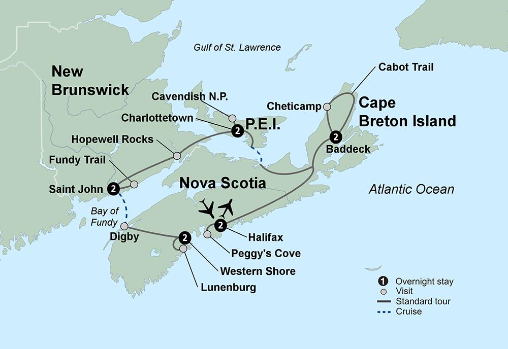 Maritimes Coastal Wonders (9 Days, Standard)