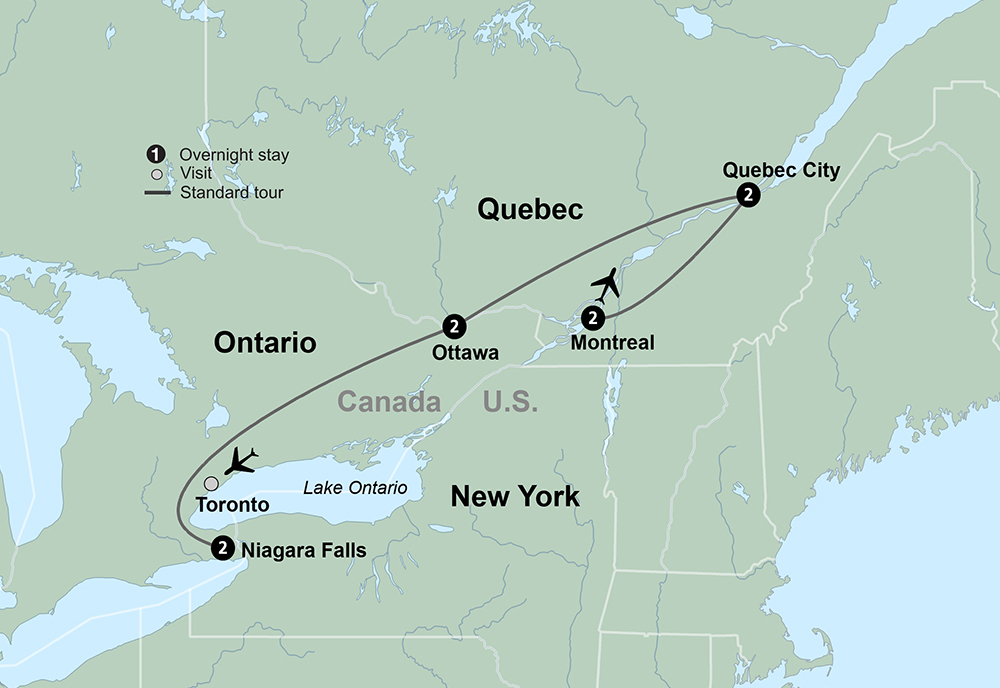 The Best of Eastern Canada (8 Days, Standard)