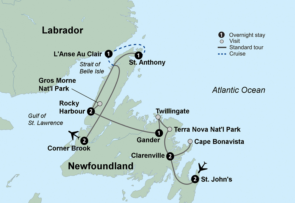 Wonders of Newfoundland (12 Days, Standard)