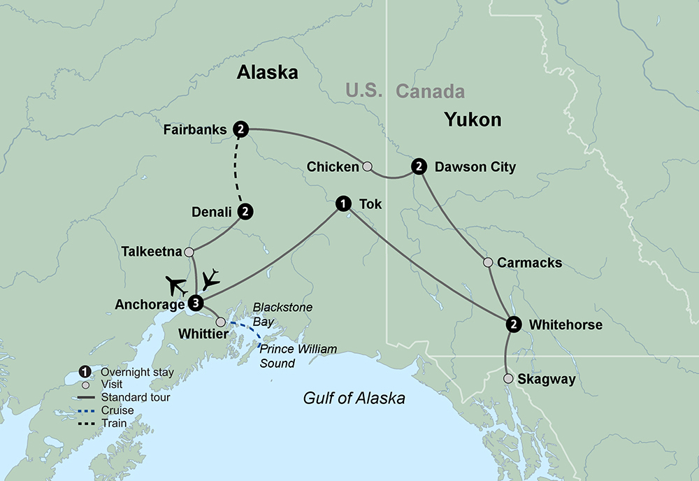 Alaska by Land (13 Days, Standard)
