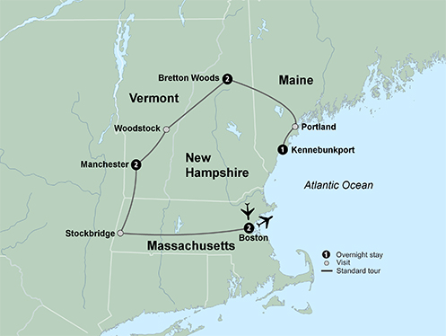 Historic Hotels of New England (8 Days, Standard)
