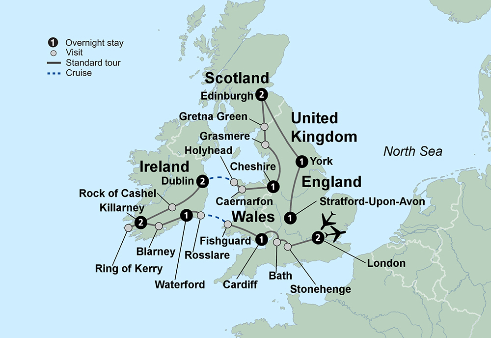 Exploring Britain and Ireland (14 Days, Alternative)