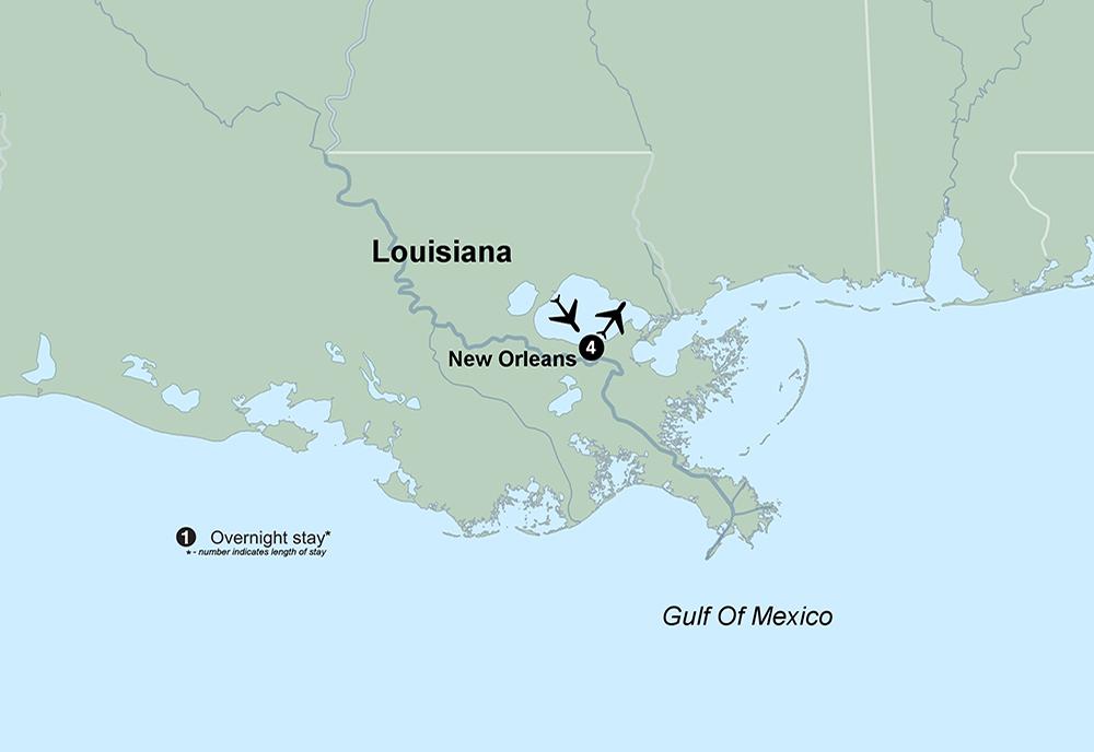 Spotlight on New Orleans (5 Days, Standard)