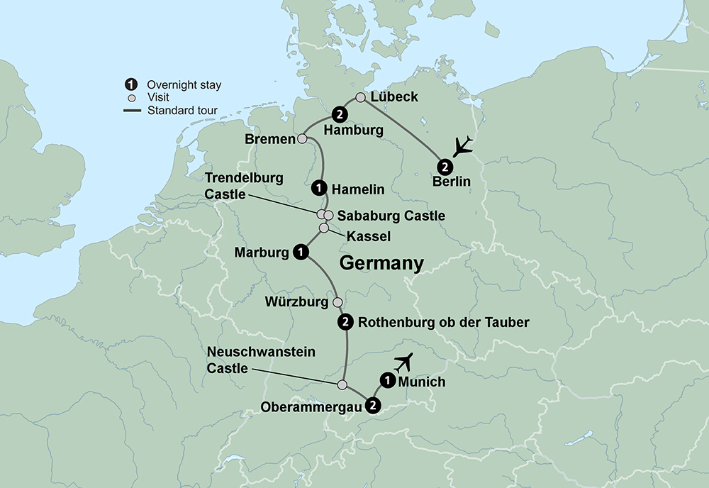 Germanys Cultural Cities with Oberammergau (12 Days, Standard)